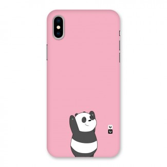 Panda Handsup Back Case for iPhone X