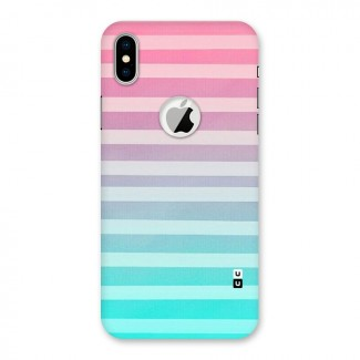 Pastel Ombre Back Case for iPhone X Logo Cut