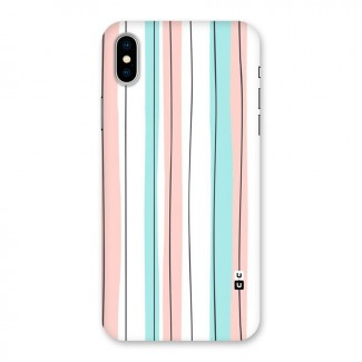 Pastel Tri Stripes Back Case for iPhone X