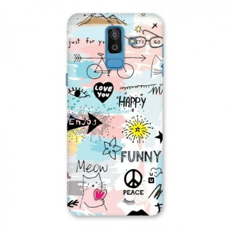 Peace And Funny Back Case for Galaxy J8