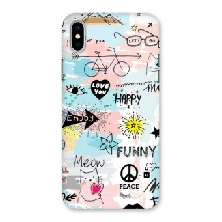 Peace And Funny Back Case for iPhone X