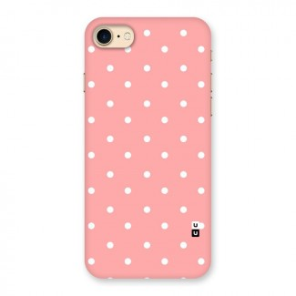 Peach Polka Pattern Back Case for iPhone 7