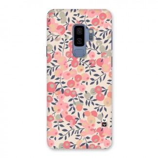 Pink Leaf Pattern Back Case for Galaxy S9 Plus