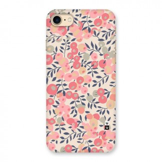 Pink Leaf Pattern Back Case for iPhone 7