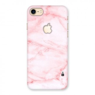 Pink Marble Print Back Case for iPhone 7 Apple Cut