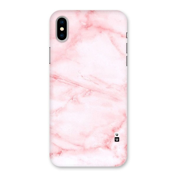 Pink Marble Print Back Case for iPhone X
