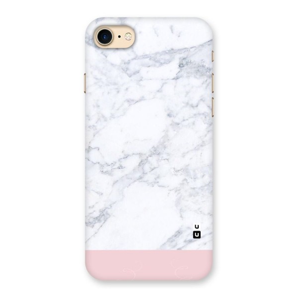 Pink White Merge Marble Back Case for iPhone 7