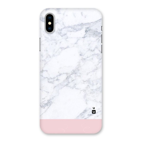 Pink White Merge Marble Back Case for iPhone X