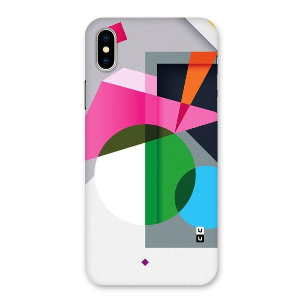 Polygons Cute Pattern Back Case for iPhone X