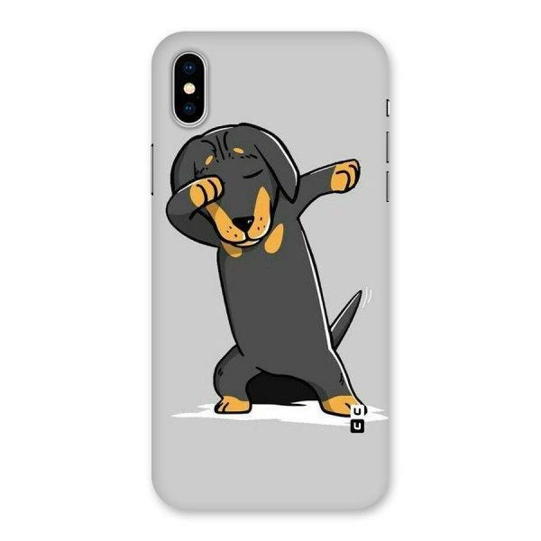 Puppy Dab Back Case for iPhone X