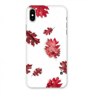 Red Appealing Autumn Leaves Back Case for iPhone X
