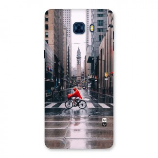 Red Bicycle Street Back Case for Galaxy C7 Pro