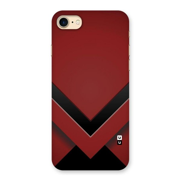 Red Black Fold Back Case for iPhone 7