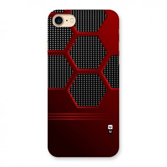 Red Black Hexagons Back Case for iPhone 7
