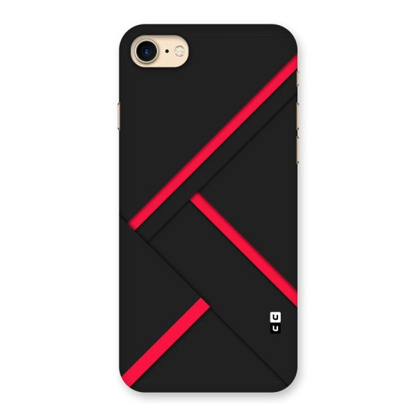 Red Disort Stripes Back Case for iPhone 7