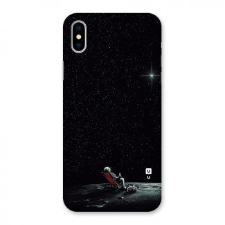 Resting Spaceman Face Back Case for iPhone X