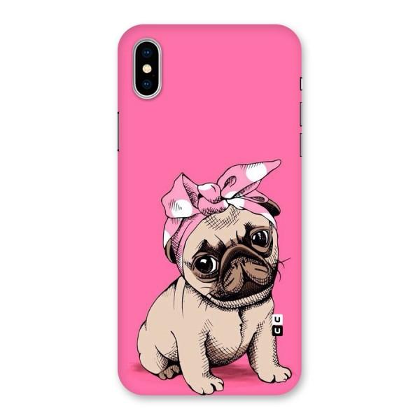 Ribbon Doggo Back Case for iPhone X