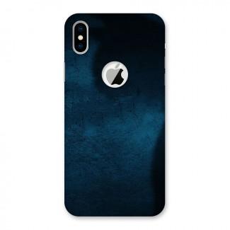 Royal Blue Back Case for iPhone X Logo Cut