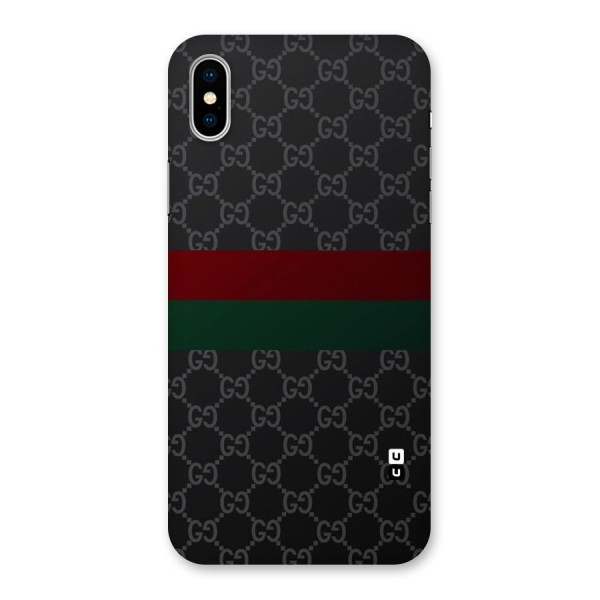 Royal Stripes Design Back Case for iPhone X