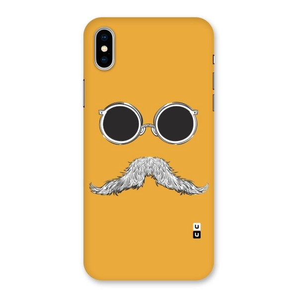 Sassy Mustache Back Case for iPhone X
