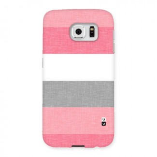 Shades Pink Stripes Back Case for Samsung Galaxy S6