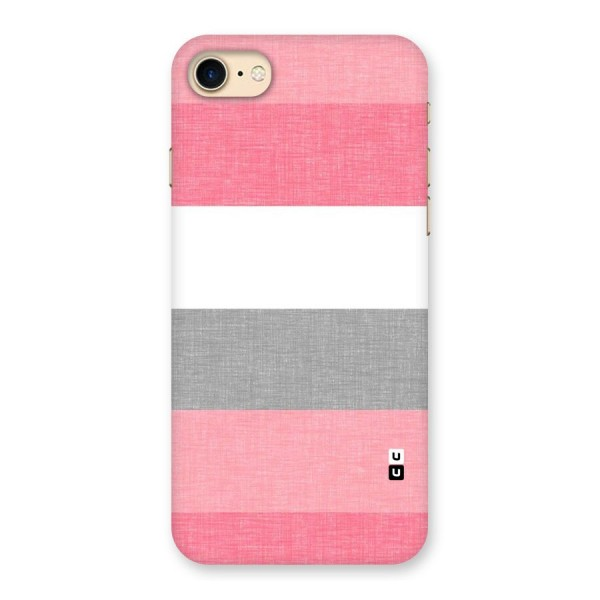 Shades Pink Stripes Back Case for iPhone 7