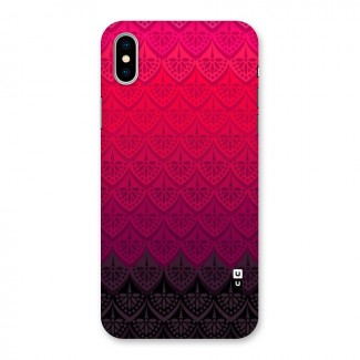 Shades Red Design Back Case for iPhone X