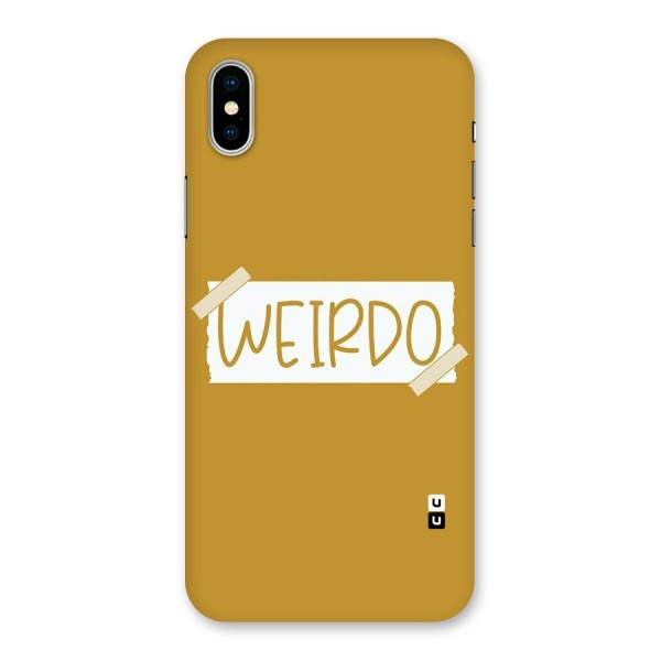 Simple Weirdo Back Case for iPhone X
