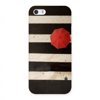 Single Red Umbrella Stripes Back Case for iPhone 5 5S