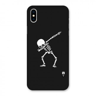 Skeleton Dab White Back Case for iPhone X