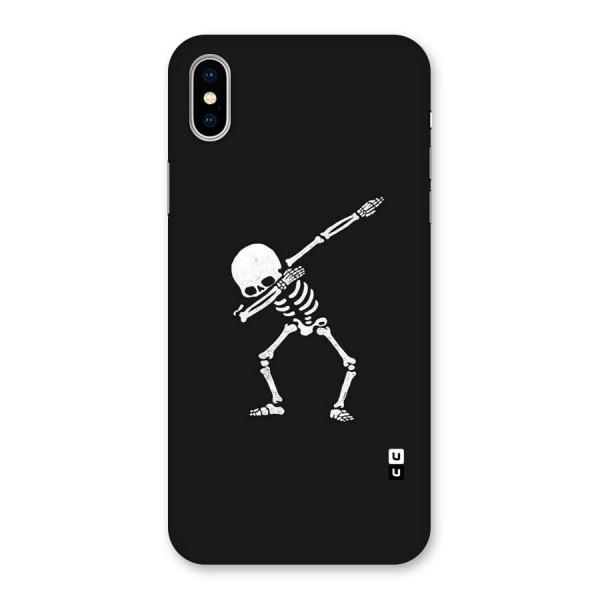 Skeleton Dab White Back Case for iPhone X