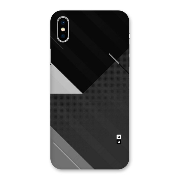 Slant Grey Back Case for iPhone X
