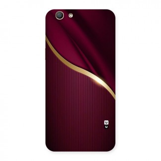 Smooth Maroon Back Case for Oppo F1s