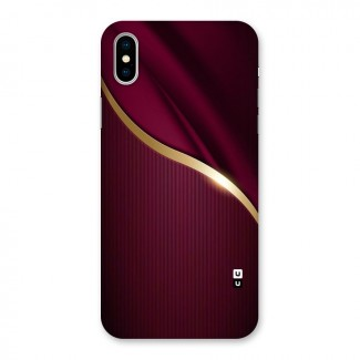 Smooth Maroon Back Case for iPhone X