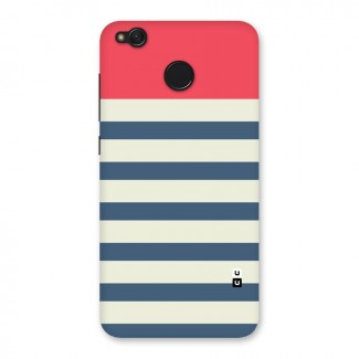 Solid Orange And Stripes Back Case for Redmi 4