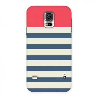 Solid Orange And Stripes Back Case for Samsung Galaxy S5
