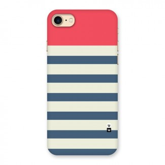 Solid Orange And Stripes Back Case for iPhone 7