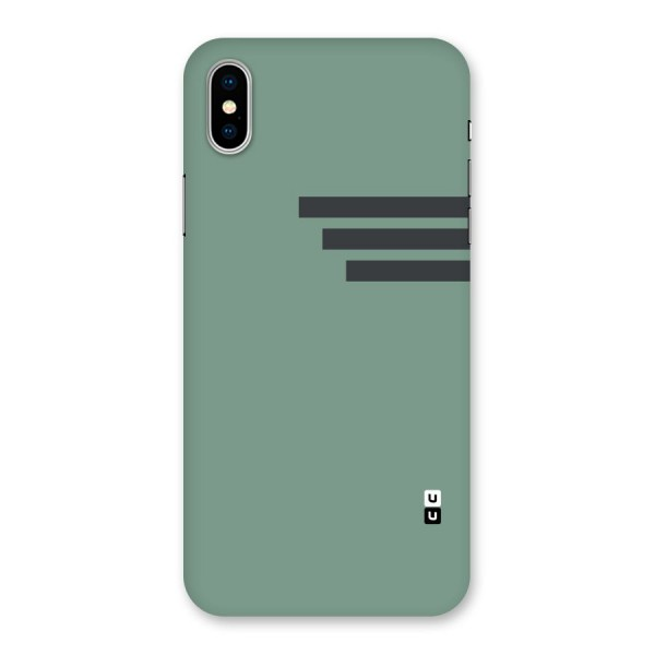 Solid Sports Stripe Back Case for iPhone X