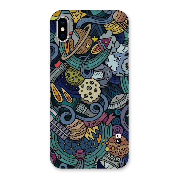 Space Pattern Blue Back Case for iPhone X