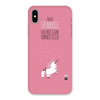 Sparkle Not Unnoticed Back Case for iPhone X