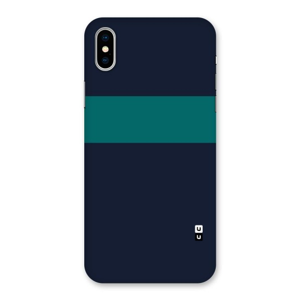 Stripe Block Back Case for iPhone X