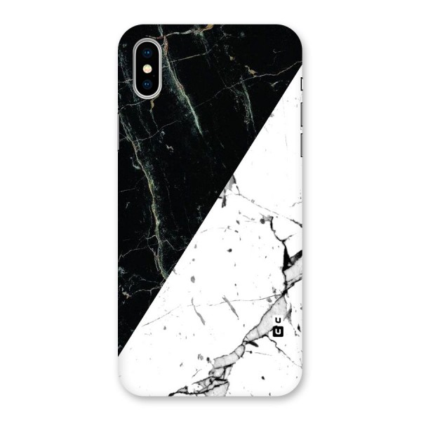 Stylish Diagonal Marble Back Case for iPhone X
