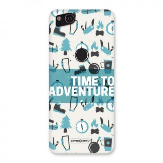 Time To Adventure Blazing Blue Back Case for Google Pixel 2