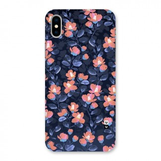 Tiny Peach Flowers Back Case for iPhone X