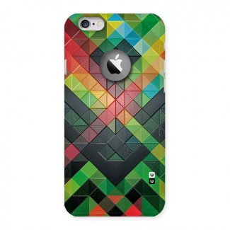 Too Much Colors Pattern Back Case for iPhone 6 Logo Cut