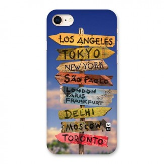 Travel Signs Back Case for iPhone 8