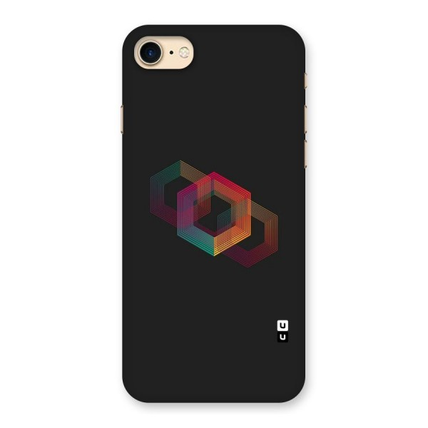 Tri-hexa Colours Back Case for iPhone 7