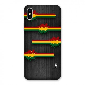 Tricolor Splash Design Back Case for iPhone X
