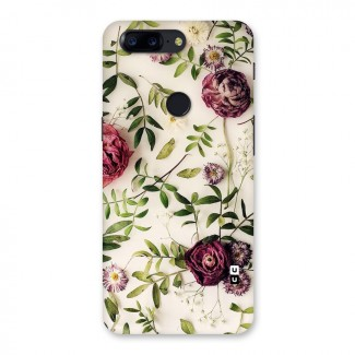 Vintage Rust Floral Back Case for OnePlus 5T