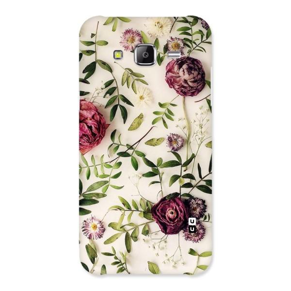 Vintage Rust Floral Back Case for Samsung Galaxy J5